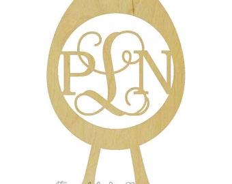 Wooden Monogram| Egg Border| Easter| Door Decor| Home Decor| Wall Decor| Door Hanger| Monogram| Initials