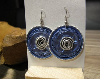 Nespresso round and spiral earrings
