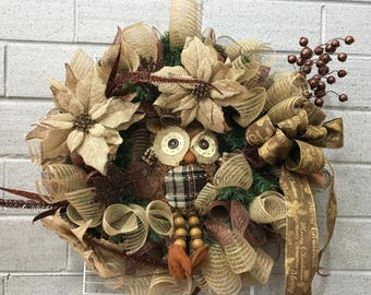 Hoot the Owl Wreath