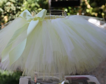 Baby yellow & light yellow Tutu Skirt
