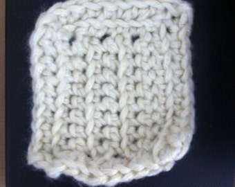 White Wash Cloth, White and Gold Washcloth, White Face Flannel
