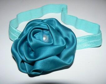 Bandeau Fleur Turquoise