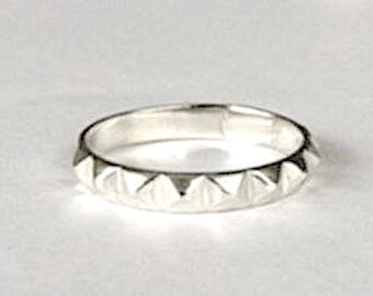 Angeline Quinn Sterling Silver Pyramid Ring