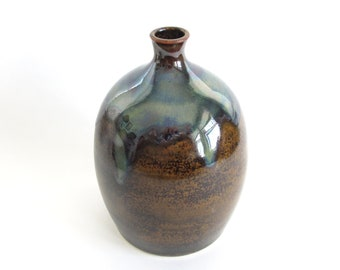 Handmade Vase, Pottery Vase, Ceramic Vase, Fine Art Pottery, Brown Pottery Vase, Wheel Thrown Vase, Pottery Flower Vase, Ceramic Flower Vase