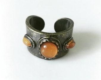 Boho Style Faux Amber Ring