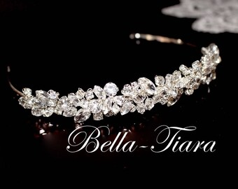 crystal headband, wedding headband, bridal headband, crystal bridal headband, rhinestone wedding headband, wedding headpiece