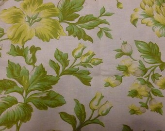 Ivory bouquet fabric in yellow and green flowers (2)