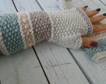 knit fingerless gloves, arm warmers, fingerless mitts, wrist warmers, hand warmers, knit gloves, knit mittens, wool gloves, made to order