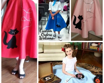 Custom Classic '50s Poodle Skirt with a Twist