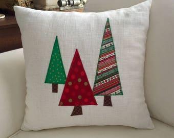 Three Trees Christmas 16 x 16 inch