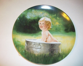 Donald Zolan Collectable Plate Summer Suds Series of Adventures of  Childhood  Collection Third plate of Series 1989 BX8  98695437