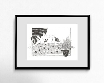 Bed - riso print