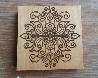 Wood coasters, Wood Drink Coasters, Mandala wood coasters, Laser Engraved coaster, Mandala engraved coasters