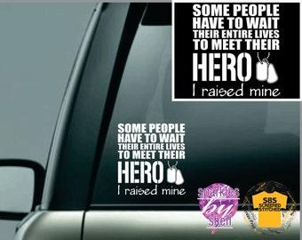 Marine sticker, army sticker, air force sticker, navy sticker, Military car sticker, Car decal, Hero Military,car sticker window