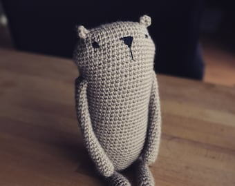 "Amigurumi crochet pattern "" Mr. Luiwood "" *big size*  bear beaver * languages: english * PDF"