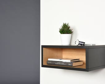 Open Floating Nightstand/ Hall floating table entryway console in solid Valcromat  / Bedside scandinavian mid century modern / Side table