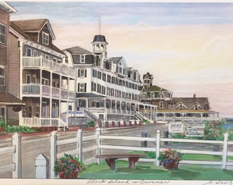 Wall Art Block Island in Summer, Rhode Island coastal scene, classic Block Island art work, framable print