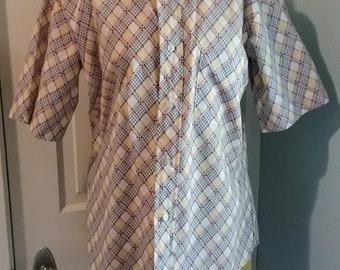 1960s 60s 1970s 70s Mens Marlboro short sleeve dress shirt