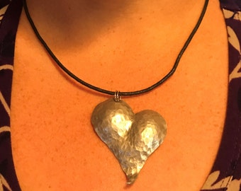 Hand Hammered Heart Necklace