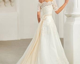 Aleksa . Wedding dress , fairy wedding dress, vintage style wedding dresses, wedding gowns, bride dresses