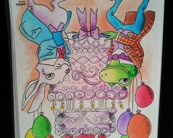 "Children""s Artwork 8.5"" by 11"" Watercolor Illustration Reproduction of Original Artwork"