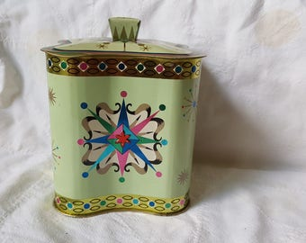 Vintage Baret Ware Tin With Lid Square AWESOME Condition