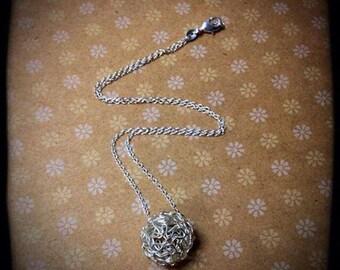 Silver Chaos- silver ball necklace