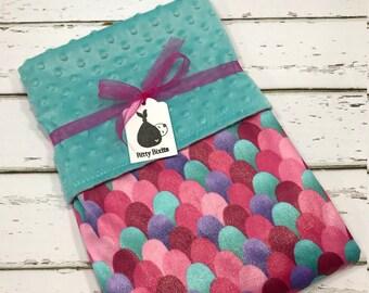 Mermaid Baby blanket Baby girl blanket Baby shower gift purple blanket pink Minky blanket Girl baby Shower gift toddler Blanket mermaids