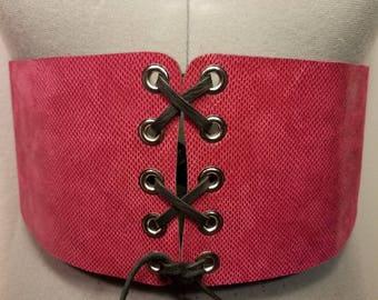 Pinky Tuscadero Leather Corset Belt!
