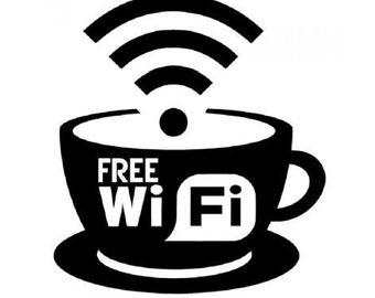 Sticker Wi-Fi cafe-prespaced Glass sticker-business-bar-shops-restaurant-free WiFi