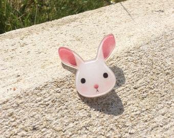 """""""Rosie"""" rabbit brooch"""