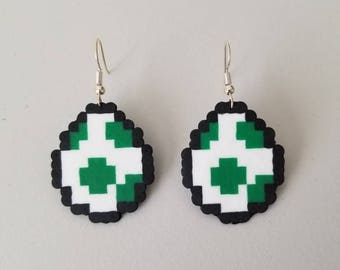 Yoshi Egg Perler Earrings