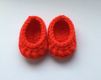 """Red doll shoes. 18 inch dolls shoes. 18"""" doll shoes, Crochet red shoes. Doll shoes. Doll footwear. (Will fit American girl doll)."""