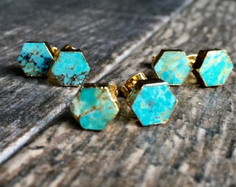 Turquoise earrings Etsy