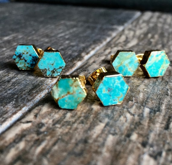 turquoise genuine p stud post s sterling earrings ebay