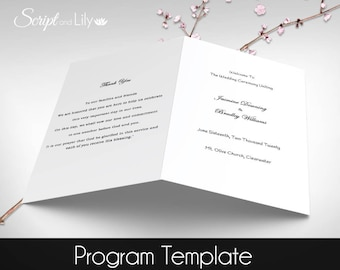 printable catholic wedding program editable text diy plain black free color changes word or pages pc mac folded 575x85
