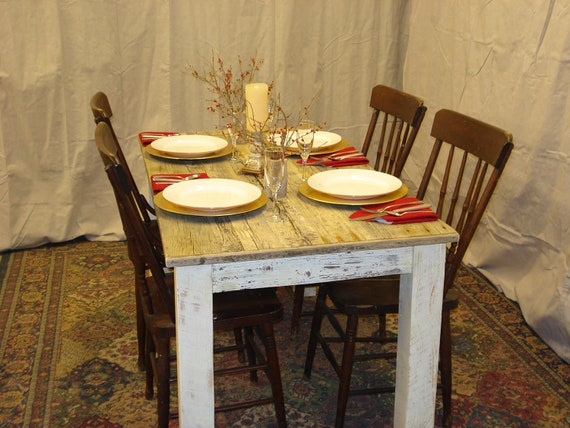 Driftwood Table Distressed White 60 X 30