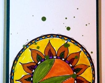 Greeting Card, Blank Card, Handmade, Watercolors & Marker