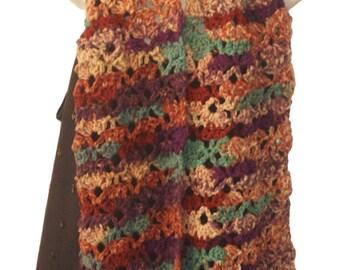 Crochet Scarf, Neckwarmer, Neck Scarf, Autumn Fashion, Tea Scarf, Womens Neck Wrap, Crochet Scarf, Fringe Scarf, Long Scarf, Winter Scarf