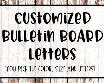 Customized Bulletin Board Letters