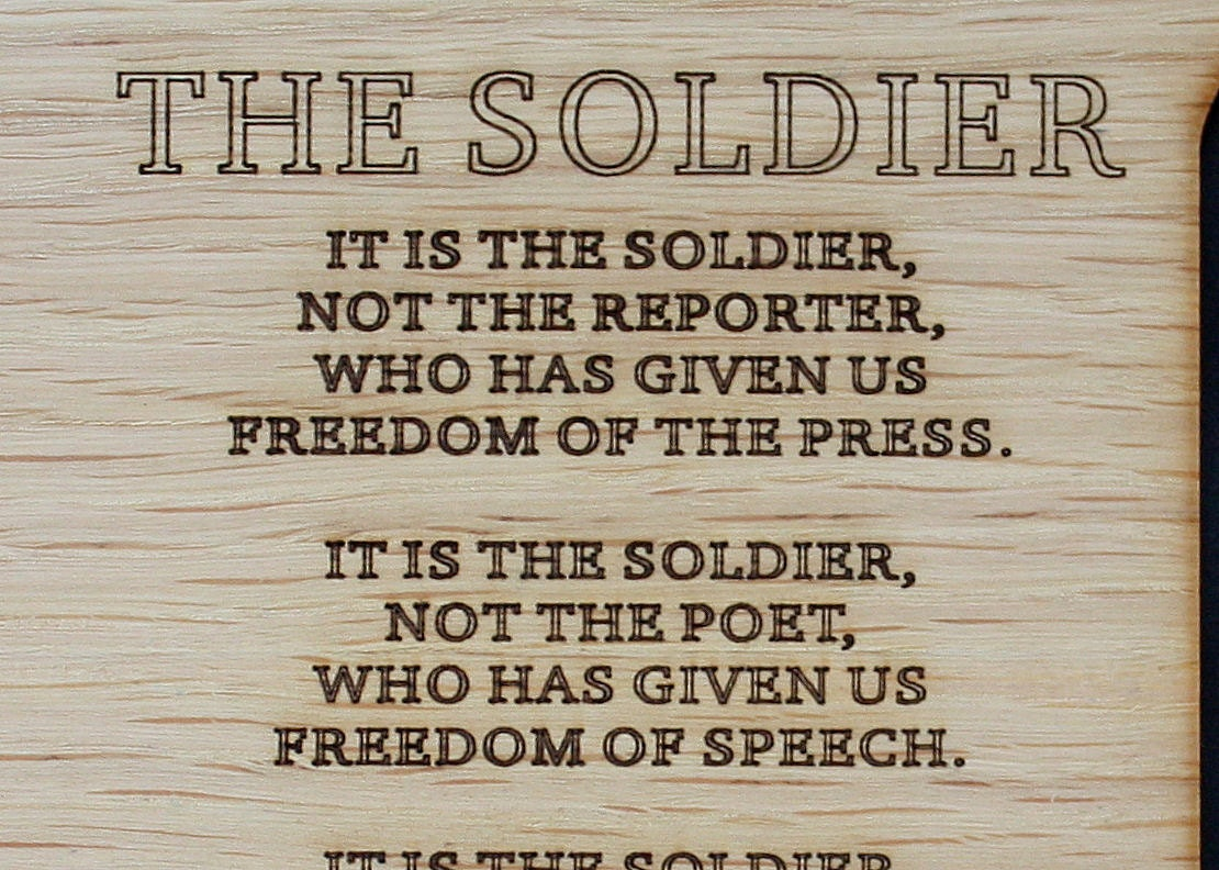 8x10 the soldier poem army custom wood picture mat insert for zoom jeuxipadfo Images