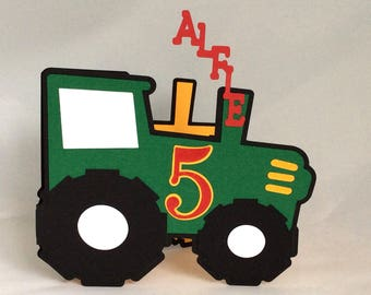 Tractor Personalised Birthday Card