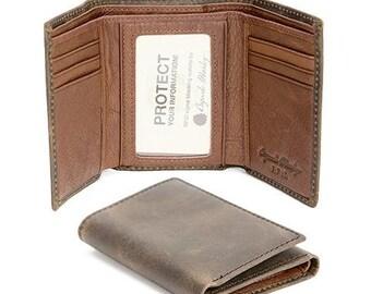 RFID ID Trifold Wallet