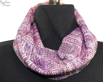 Handwoven Cowls in Cotton and Tencel Crackle Weave Double Walled OOAK