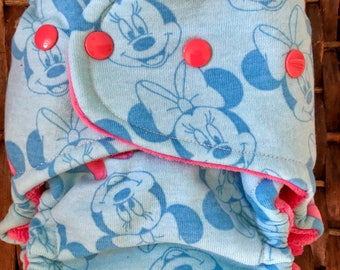Minnie Mouse OS Fitted Cloth Diaper