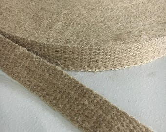 10 yards 1 inch No Stripe Burlap Webbing Free Shipping!