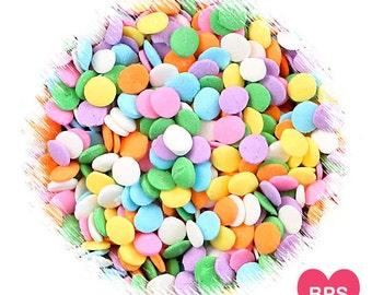 Arc en ciel pastel à pois Quin arrose, confettis Dot Quins, arc en ciel Pastel arrose, pois asperge, Pâques arrose