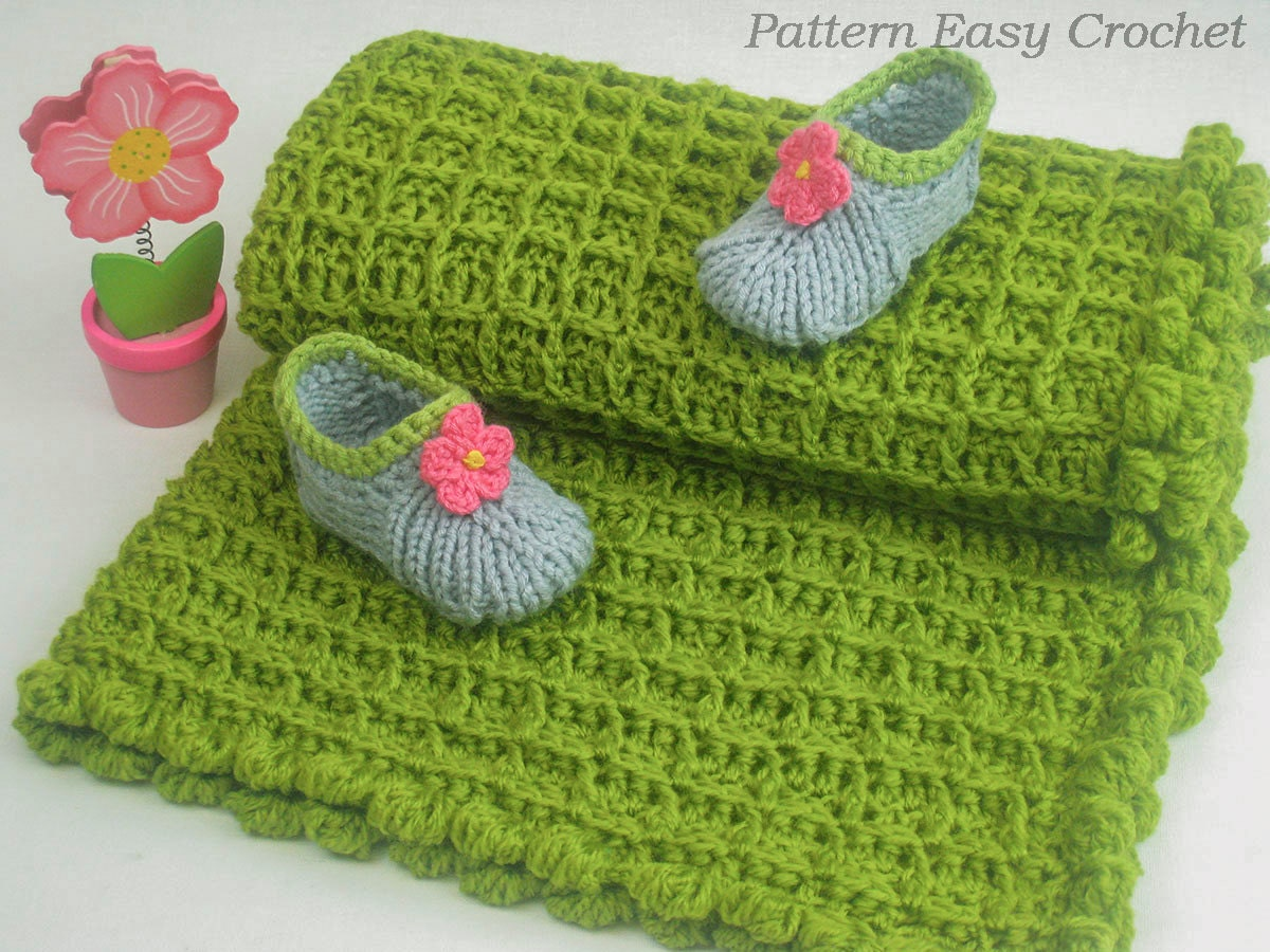 Crochet pattern baby blanket quick and easy pattern