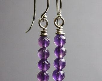 Amethyst Earrings, February Birthstone, Gift for Her, Purple Earrings, Amethyst Jewelry, Amethyst Drop Earrings, Earrings, Kathy Bankston