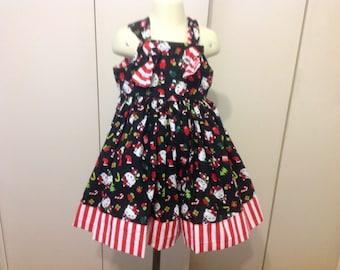 Girls Christmas Hello Kitty dress size 4 t